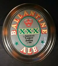 "Large Ballentine Xxx Ale Advertising Sign 1960s 24"" x 21"" Wood Frame Painted Vtg"