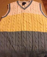 Boys Cotton Cable Knit Vest The Children's Place 5/6 S White Blue Yellow NWOT