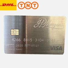 Customize your own J.P. Morgan Silver Palladium Metal Card w/ chip & stripe VISA