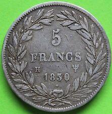 RARE FRANCE 5 FRANCS LOUIS PHILIPPE 1830 H