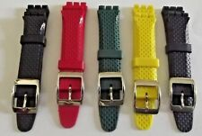 cinturino pvc di qualità colorati x orologi SWATCH irony ansa 19 mm watch montre
