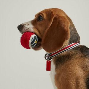 NEW! Joules Red & Navy Coastal Stripe Dog Collar