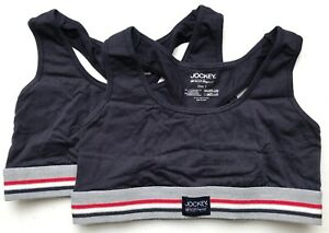 Jockey Womens Cotton Stretch Bralette (2 Pack) - Navy - Medium - 810110-499