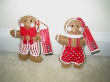 Ashland 2018 Gingerbread Christmas Couple Ornaments;Set of 2.Great for Christmas