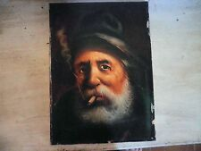 """Portrait huile sur toile. """"Le Fumeur"""", signé et daté 76"""