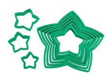 New AVANTI Star Christmas Tree Cookie Cutters 10 Piece Set