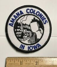Amana Colonies in Iowa German Villages Souvenir Round Embroidered Patch Badge