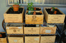 12 bottle size - Wooden Wine Box Crate for WINDOW BOX / PLANTER / FLOWER TUB