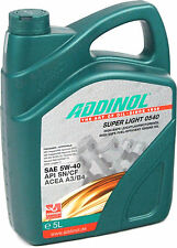 ADDINOL Super Light 0540 5 Liter (4,70€/L) 5W-40 Leichtlauföl VW BMW Mercedes 5L