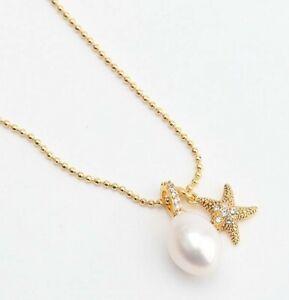 KATE SPADE Sea Star Starfish Pearl Charm Pendant Necklace