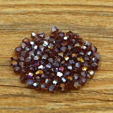 Swarovski 5301# 4 mm Bicone Crystal bead B 100 Pcs Mid-purple AB