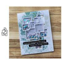 Stanzschablone Quadrat Hochzeit Weihnachts Oster Geburtstag Karte Album Deko DIY