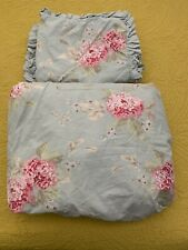 Simply Shabby Chic Hydrangeas Flowers Full/Queen Duvet Cover With 2 Pillow Shams