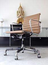 Vitra Eames EA 117 Bürodrehstuhl, Prem. Leder ocker, Chrom, Neu,inkl. 19% MwSt.!