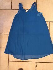 NWT Women's CALVIN KLEIN Blue Swimsuit  Cover Up SZ Small
