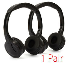 2 x Universal Infrared Headphone Headset Earphone For Car Vehicle DVD TV IR NEW