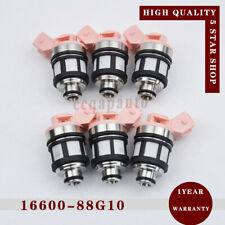 6x 16600-88G10 JS20-1 Fuel Injector For Nissan D21 Pathfinder Quest Mercury 3.0L
