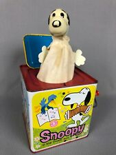 Vintage 1966 Mattel Snoopy In The Music Box Jack In The Box Works