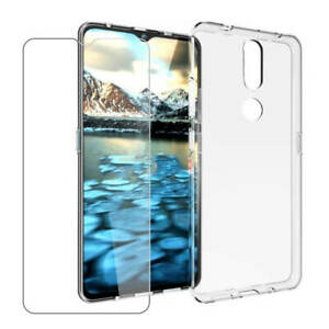 SDTEK Case for Nokia 2.4 + Glass Screen Protector Clear Gel Cover