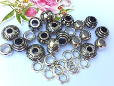 35 x Silver Mixed Acrylic Spacer Beads & Alloy spacers (4.5mm hole)