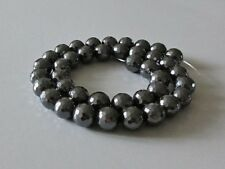 Non Magnetic Hematite Small Faceted 10mm Round Beads x 39 Jewellery Making Craft
