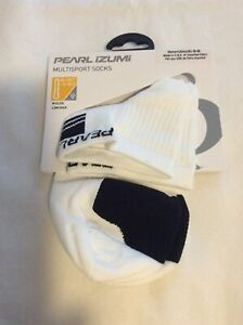 Pearl Izumi Womens Elite Low Socks Fast Drying Mesh Ventilation White Size Small