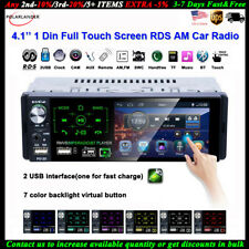 4''1 Din Car Radio Full Touch Screen 2USB Bluetooth FM Stereo AM RDS MP5 Player
