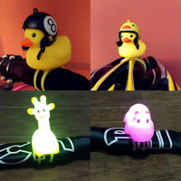 Cute Bike Horn Bicycle Light Bicycle Bell Squeeze Rubber Duck Toys A1