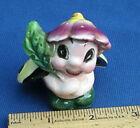 Vintage Anthropomorphic Lady Bug Flower Hat Salt or Pepper Shaker Japan Single