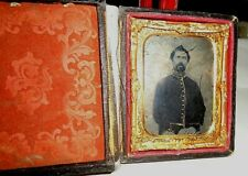 9th.P.Full Case Ruby Glass Ambrotype Civil War Soldier Photo Soldier.