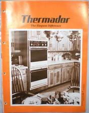 Vtg THERMADOR Waste King Catalog RETRO Kitchen Range Ovens Hoods Microwave 1980