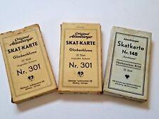Antique German Altenburger Skat Card Complete Set - Lot of 3