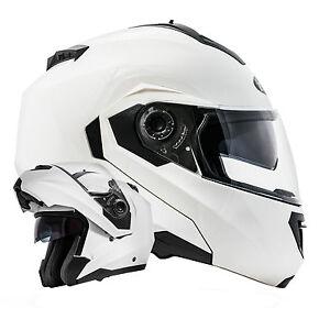 B-Ware Montreal Weiß Klapphelm Motorradhelm Doppelvisier Helm ECE 2205