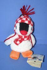 "Pingu Penguin Pinga Plush doll BANPRESTO 5.2"" Check pattern Scarf & Cap"