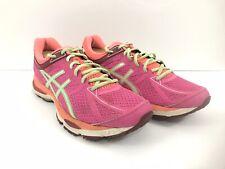 Asics Women Gel Cumulus 17 Pink Peach Green Training Running Shoes T5D8N Sz 11
