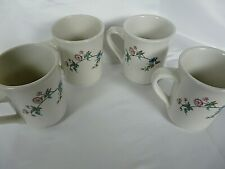 Set of 4 Syracuse China Restaurant Ware  Summerdale Pattern coffee cups/mugs