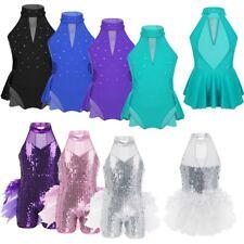 Kids Girls Ballerina Ballet Dancing Dress Gymnastics Jazz Latin Leotard Costumes