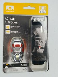 Nathan Orion Strobe LED Running Lights 4 Modes Weather Resistant with Belt NIB