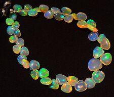 "Natural Ethiopian Opal Ultimate Quality Rainbow Fire Heart Shape Briolettes 7"""