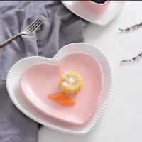 Creative Ceramic Tableware Love Heart Plate Salad Dessert Bowl Pudding Cup