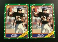 1986 Topps # 13 WILLIE GAULT Lot 2 Chicago Bears Nice LOOK !