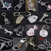 Creative Alloy Keyfob Car Keyring Unisex Keychain Compass Key Chain Ring Gift