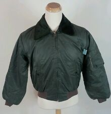 NOS With Tag Vtg 70's Bomber Flight Jacket Coat Green Military Army Air Force M
