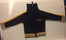 """ Pittsburg"" Embroidered Acrylic Turtle Neck Full Zippered Sweater Youth Size 6"