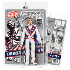 Evel Knievel 8 Inch Action Figures Series 1 Re-Issue: White Jumpsuit