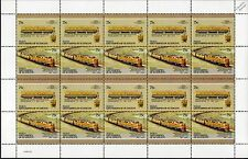 1961 Rio Grande (DRGW) KRAUSS-MAFFEI ML-4000 Diesel Train 20-Stamp Sheet