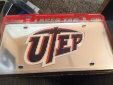 New UTEP Miners Laser Cut Car License Plate Tag Mirror $25