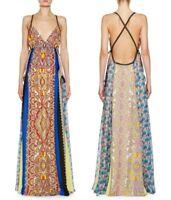Etro Womens Hanalei Bay Paneled Paisley Print Silk Maxi Dress Size IT 42, US 6 M