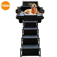 Pet Dog Car Step Stairs, Accordion Folding Pet Ramp for Indoor Outdoor Use, Auto