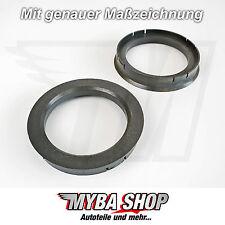 2x Zentrierringe 72,6 mm - 56,1 mm